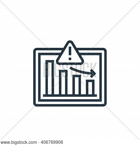 market icon isolated on white background from business risks collection. market icon thin line outli