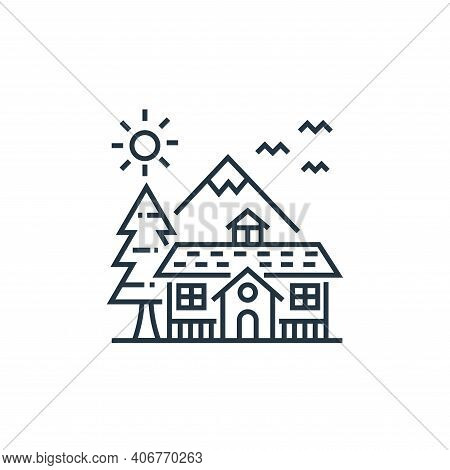 mansion icon isolated on white background from tourism collection. mansion icon thin line outline li