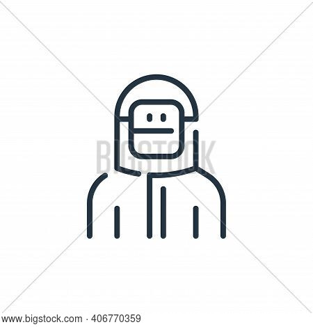 man icon isolated on white background from virus transmission collection. man icon thin line outline