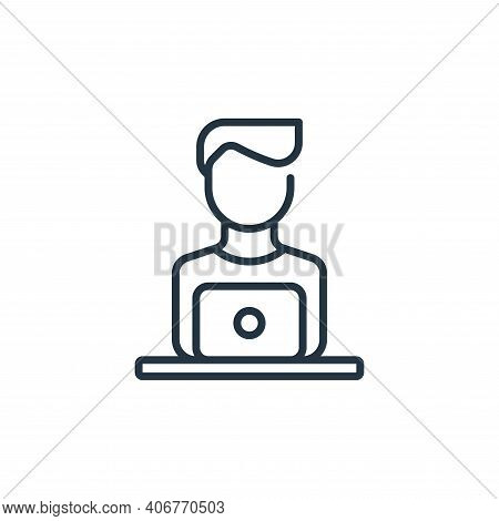 man icon isolated on white background from life skills collection. man icon thin line outline linear