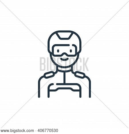 man icon isolated on white background from technology of the future collection. man icon thin line o