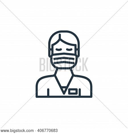 male nurse icon isolated on white background from virus transmission collection. male nurse icon thi