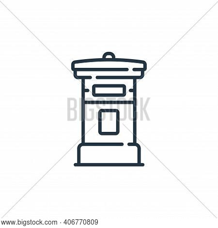 mailbox icon isolated on white background from england collection. mailbox icon thin line outline li