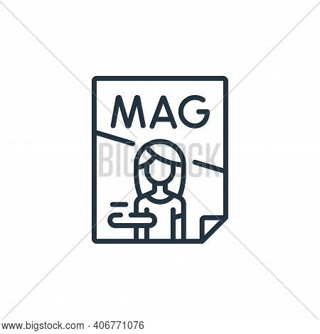 magazine icon isolated on white background from fame collection. magazine icon thin line outline lin