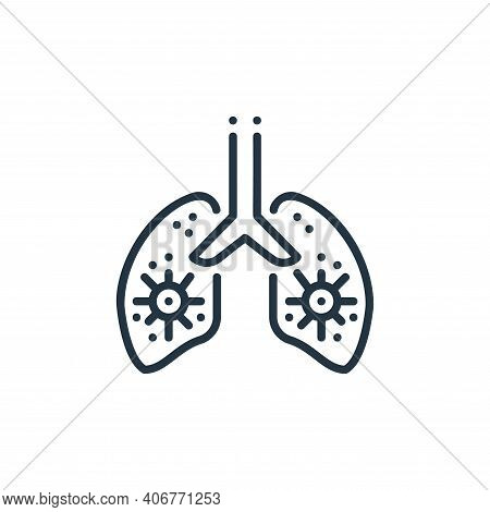 lungs icon isolated on white background from virus spread collection. lungs icon thin line outline l
