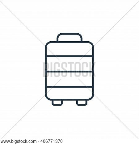 luggage icon isolated on white background from retirement collection. luggage icon thin line outline