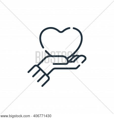 love icon isolated on white background from hope collection. love icon thin line outline linear love