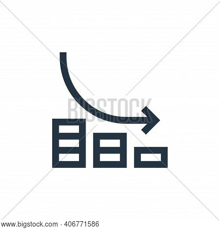 losses icon isolated on white background from marketing and growth collection. losses icon thin line