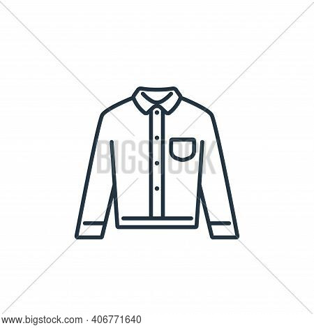 long sleeve icon isolated on white background from clothes and outfit collection. long sleeve icon t