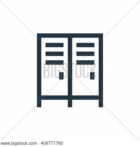 lockers icon isolated on white background from soccer collection. lockers icon thin line outline lin