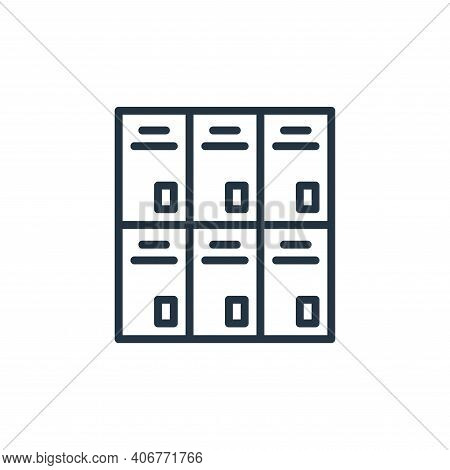 locker icon isolated on white background from education collection. locker icon thin line outline li