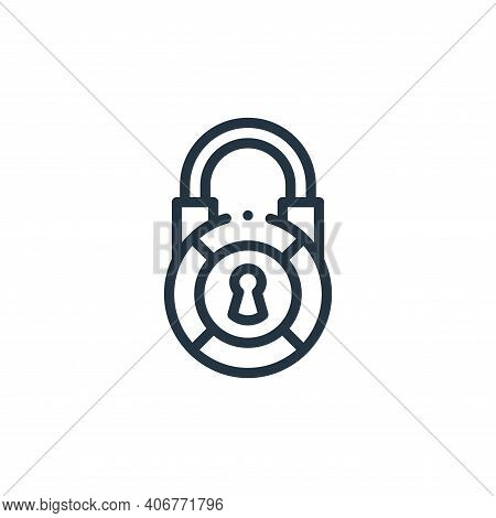 locked icon isolated on white background from videogame elements collection. locked icon thin line o