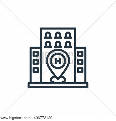 location icon isolated on white background from hotel collection. location icon thin line outline li