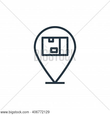 location icon isolated on white background from branding collection. location icon thin line outline