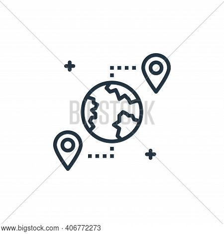 location icon isolated on white background from work from home collection. location icon thin line o