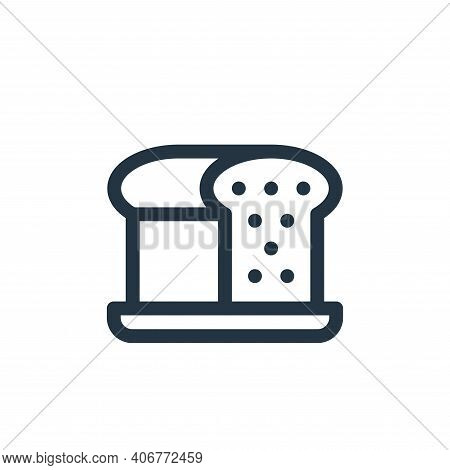 loaf icon isolated on white background from gastronomy collection. loaf icon thin line outline linea