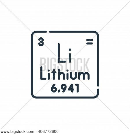 lithium icon isolated on white background from academy collection. lithium icon thin line outline li