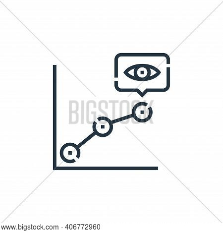 line chart icon isolated on white background from videoblogger collection. line chart icon thin line