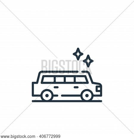 limousine icon isolated on white background from fame collection. limousine icon thin line outline l