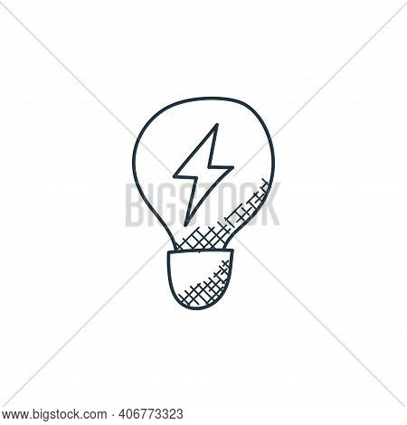 light bulb icon isolated on white background from technology collection. light bulb icon thin line o