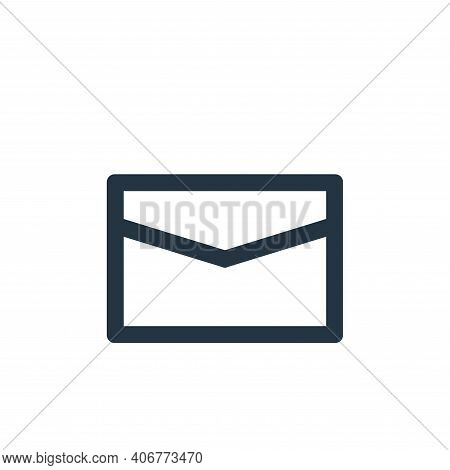 letter icon isolated on white background from user interface collection. letter icon thin line outli