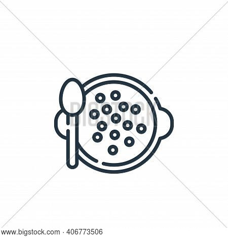 lentils icon isolated on white background from vegan food collection. lentils icon thin line outline
