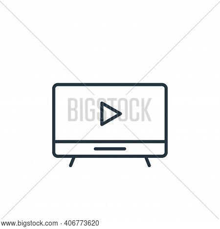 led tv icon isolated on white background from cinema collection. led tv icon thin line outline linea