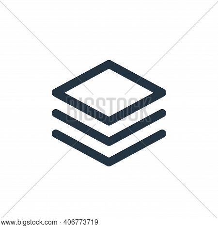 layer icon isolated on white background from user interface collection. layer icon thin line outline