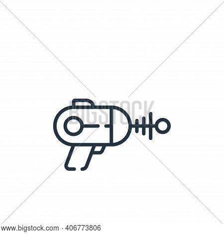 laser gun icon isolated on white background from children toys collection. laser gun icon thin line