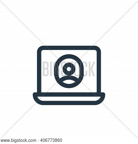 laptop icon isolated on white background from communication and media collection. laptop icon thin l