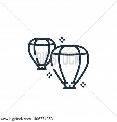 lantern icon isolated on white background from hope collection. lantern icon thin line outline linea