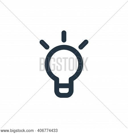 lamp icon isolated on white background from user interface collection. lamp icon thin line outline l