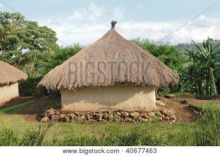 Traditional Village Near Rwenzori Mountains