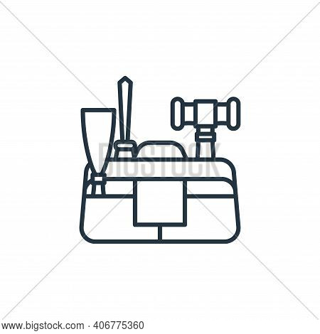 kit icon isolated on white background from carpentry collection. kit icon thin line outline linear k