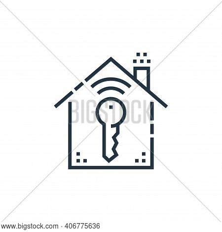 key icon isolated on white background from smarthome collection. key icon thin line outline linear k