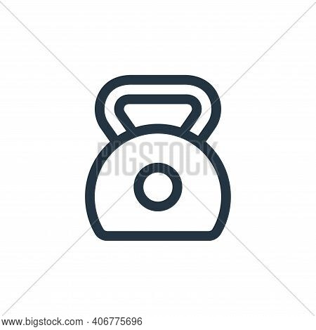 kettlebell icon isolated on white background from pilates collection. kettlebell icon thin line outl