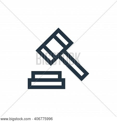 justice icon isolated on white background from insurance collection. justice icon thin line outline