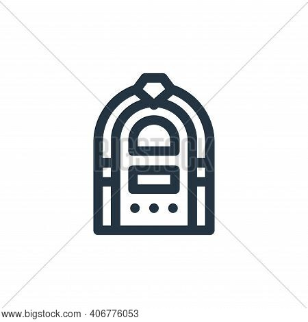 jukebox icon isolated on white background from music collection. jukebox icon thin line outline line
