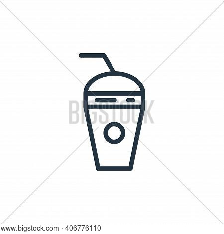 juice icon isolated on white background from food collection. juice icon thin line outline linear ju