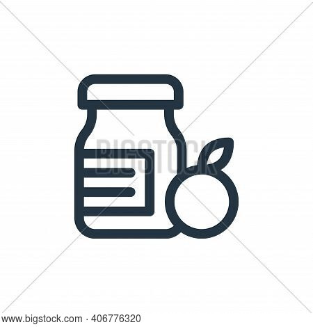 jam icon isolated on white background from gastronomy collection. jam icon thin line outline linear