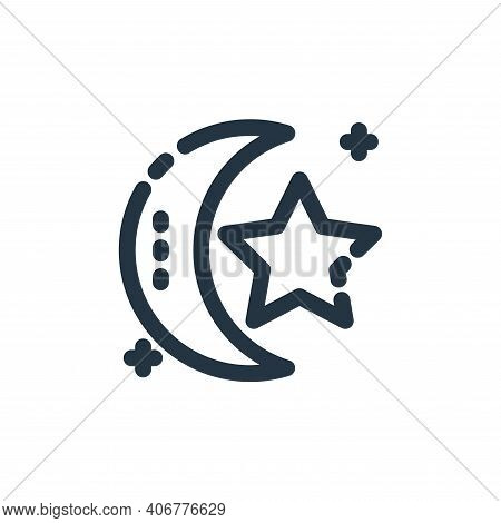 islam icon isolated on white background from ramadan kareem collection. islam icon thin line outline
