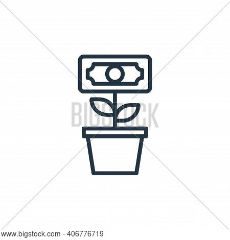 investment icon isolated on white background from money collection. investment icon thin line outlin