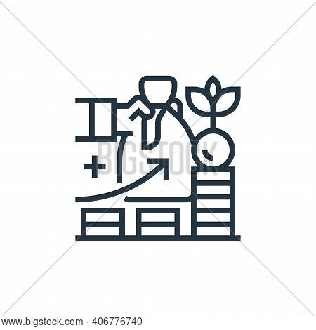 investment icon isolated on white background from business risks collection. investment icon thin li