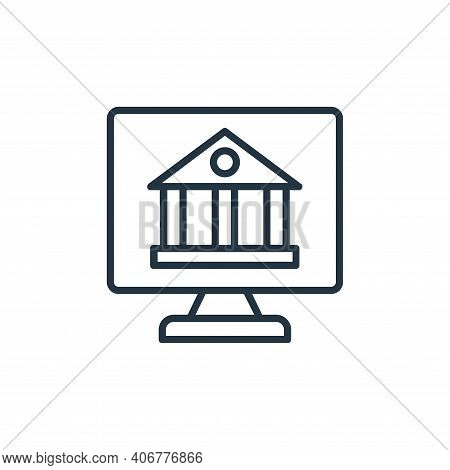 internet banking icon isolated on white background from shopping line icons collection. internet ban