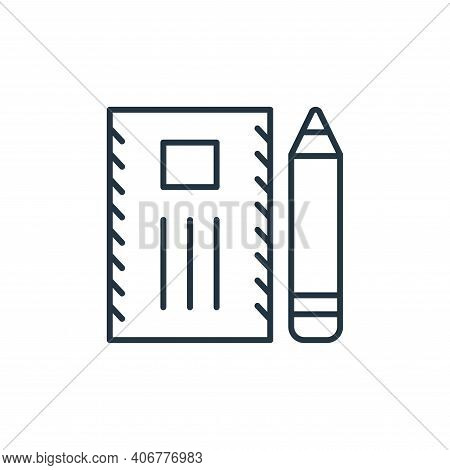 international mail icon isolated on white background from stationery collection. international mail