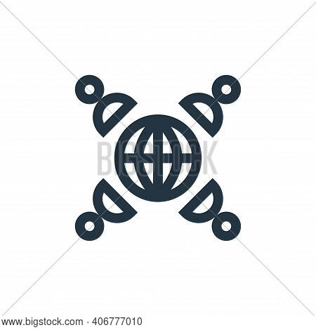international business icon isolated on white background from job resume collection. international b