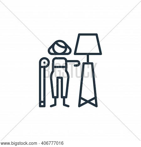 interior design icon isolated on white background from general arts collection. interior design icon