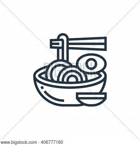 instant noodles icon isolated on white background from railway collection. instant noodles icon thin