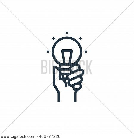 innovation icon isolated on white background from branding collection. innovation icon thin line out