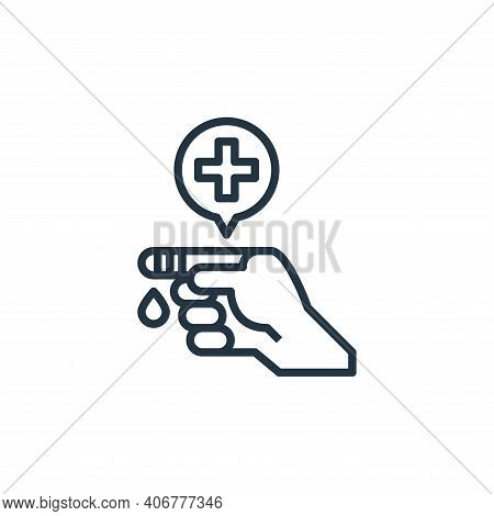 injury icon isolated on white background from hospital collection. injury icon thin line outline lin